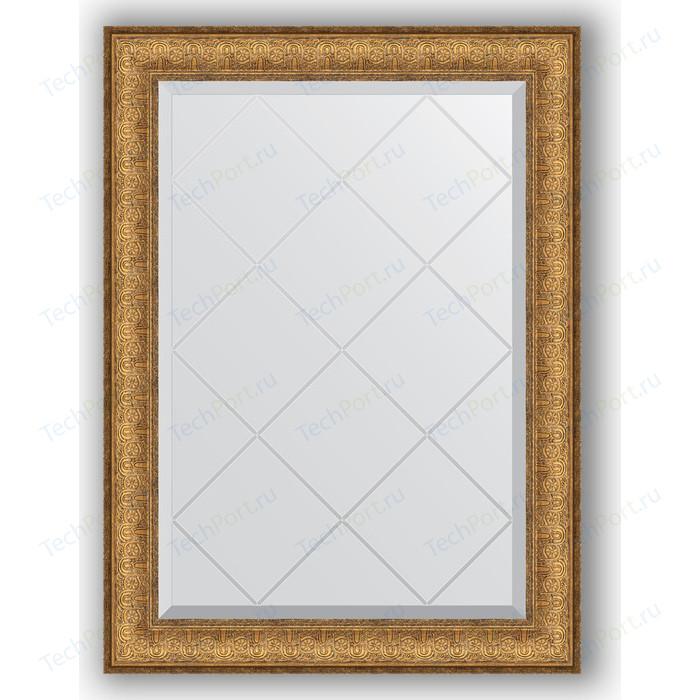 Зеркало с гравировкой поворотное Evoform Exclusive-G 64x86 см, в багетной раме - медный эльдорадо 73 мм (BY 4094)