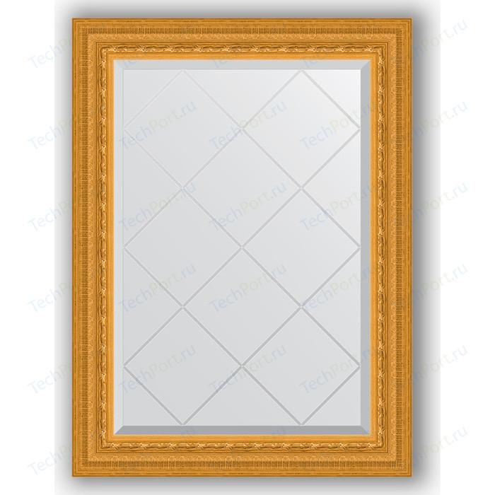 Зеркало с гравировкой поворотное Evoform Exclusive-G 65x87 см, в багетной раме - сусальное золото 80 мм (BY 4095) зеркало evoform exclusive floor 199х100 сусальное золото