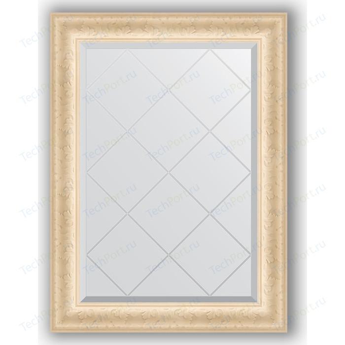 Зеркало с гравировкой поворотное Evoform Exclusive-G 65x87 см, в багетной раме - старый гипс 82 мм (BY 4097) зеркало evoform exclusive g floor 200х110 старый гипс