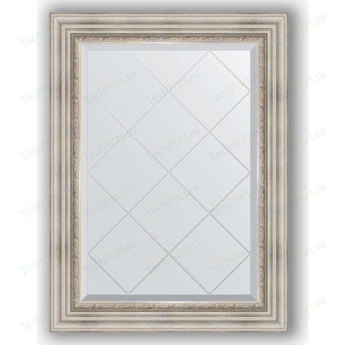 Зеркало с гравировкой поворотное Evoform Exclusive-G 66x89 см, в багетной раме - римское серебро 88 мм (BY 4104) зеркало с гравировкой evoform exclusive g 86x86 см в багетной раме римское серебро 88 мм by 4319