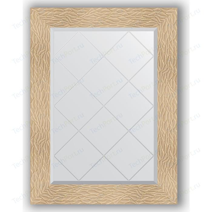 Зеркало с гравировкой поворотное Evoform Exclusive-G 66x89 см, в багетной раме - золотые дюны 90 мм (BY 4107) зеркало с гравировкой поворотное evoform exclusive g 56x74 см в багетной раме золотые дюны 90 мм by 4021