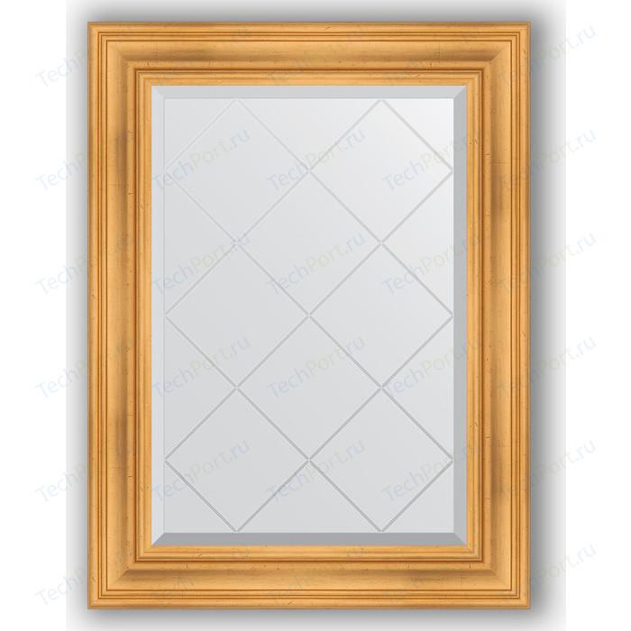 Зеркало с гравировкой поворотное Evoform Exclusive-G 69x91 см, в багетной раме - травленое золото 99 мм (BY 4116)