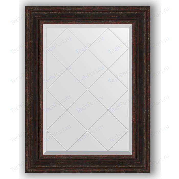 Зеркало с гравировкой поворотное Evoform Exclusive-G 69x91 см, в багетной раме - темный прованс 99 мм (BY 4119) зеркало с гравировкой поворотное evoform exclusive g 59x76 см в багетной раме темный прованс 99 мм by 4033