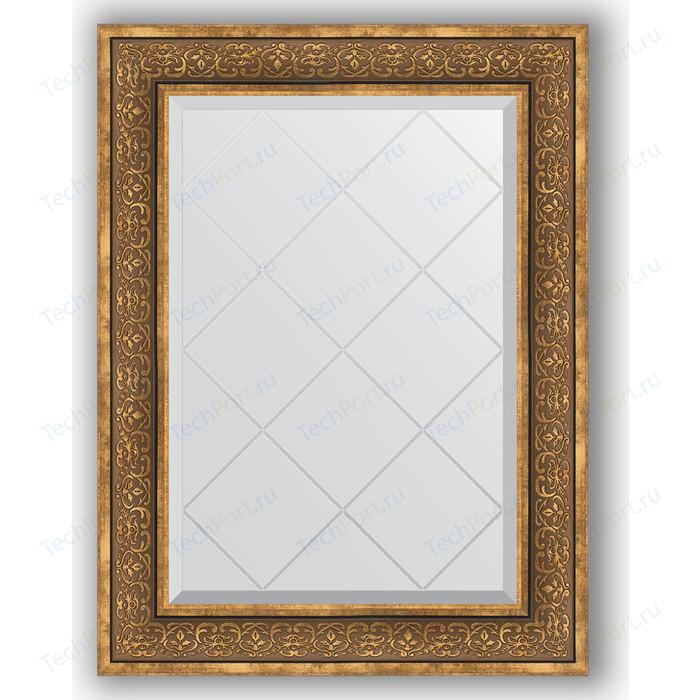 Зеркало с гравировкой поворотное Evoform Exclusive-G 69x91 см, в багетной раме - вензель бронзовый 101 мм (BY 4120)