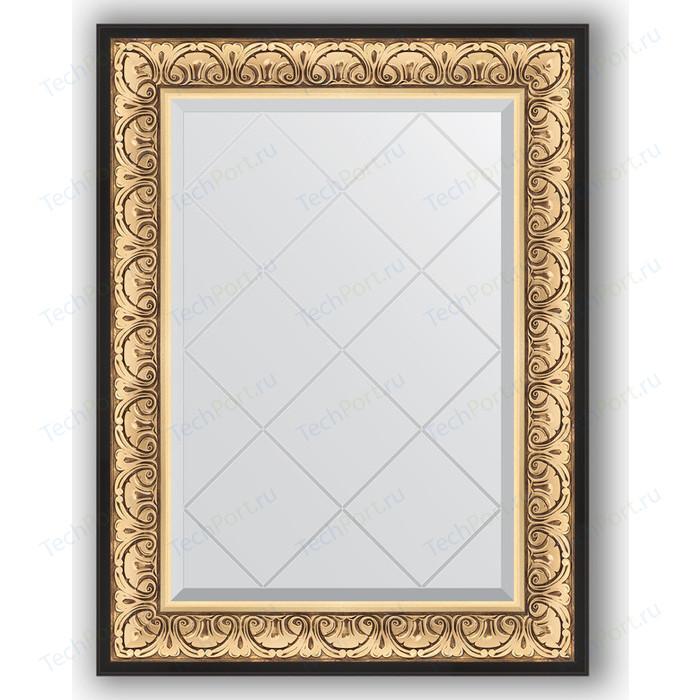 Зеркало с гравировкой поворотное Evoform Exclusive-G 70x92 см, в багетной раме - барокко золото 106 мм (BY 4122)