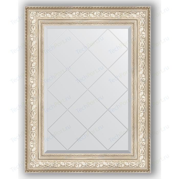 Зеркало с гравировкой поворотное Evoform Exclusive-G 70x93 см, в багетной раме - виньетка серебро 109 мм (BY 4125) зеркало с фацетом в багетной раме поворотное evoform exclusive 80x110 см виньетка серебро 109 мм by 3478