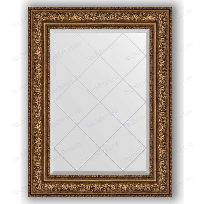 Зеркало с гравировкой поворотное Evoform Exclusive-G 70x93 см, в багетной раме - виньетка состаренная бронза 109 мм (BY 4126) зеркало с фацетом в багетной раме evoform exclusive 60x80 см виньетка состаренная бронза 109 мм by 3401