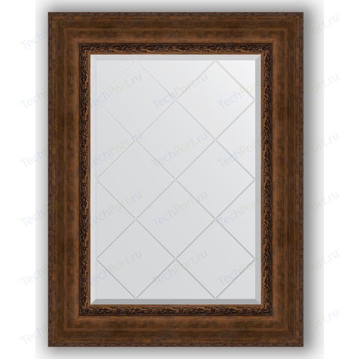 Зеркало с гравировкой поворотное Evoform Exclusive-G 72x95 см, в багетной раме - состаренная бронза орнаментом 120 мм (BY 4128)