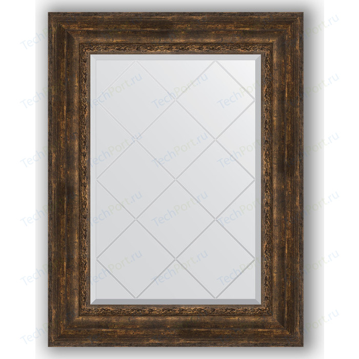 Зеркало с гравировкой поворотное Evoform Exclusive-G 72x95 см, в багетной раме - состаренное дерево с орнаментом 120 мм (BY 4129) зеркало напольное 87х207 см состаренное дерево с орнаментом evoform exclusive floor by 6140