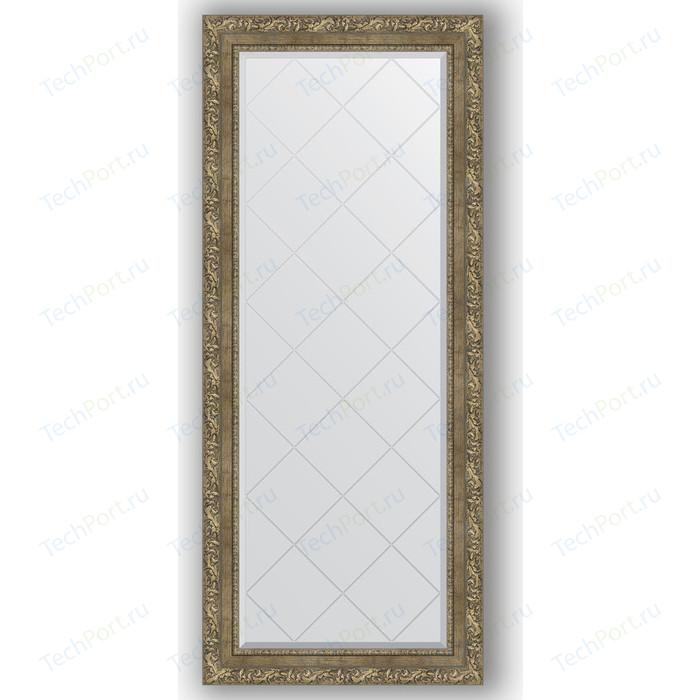 Зеркало с гравировкой поворотное Evoform Exclusive-G 65x155 см, в багетной раме - виньетка античная латунь 85 мм (BY 4145)