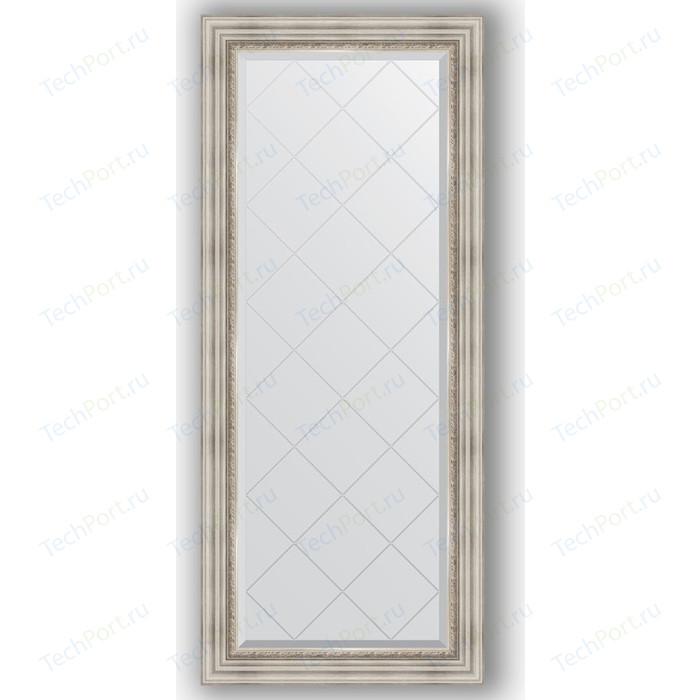 Зеркало с гравировкой поворотное Evoform Exclusive-G 66x156 см, в багетной раме - римское серебро 88 мм (BY 4147) зеркало с гравировкой evoform exclusive g 86x86 см в багетной раме римское серебро 88 мм by 4319