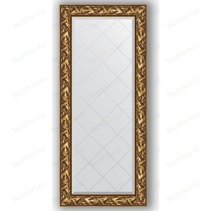 Зеркало с гравировкой поворотное Evoform Exclusive-G 69x158 см, в багетной раме - византия золото 99 мм (BY 4156)