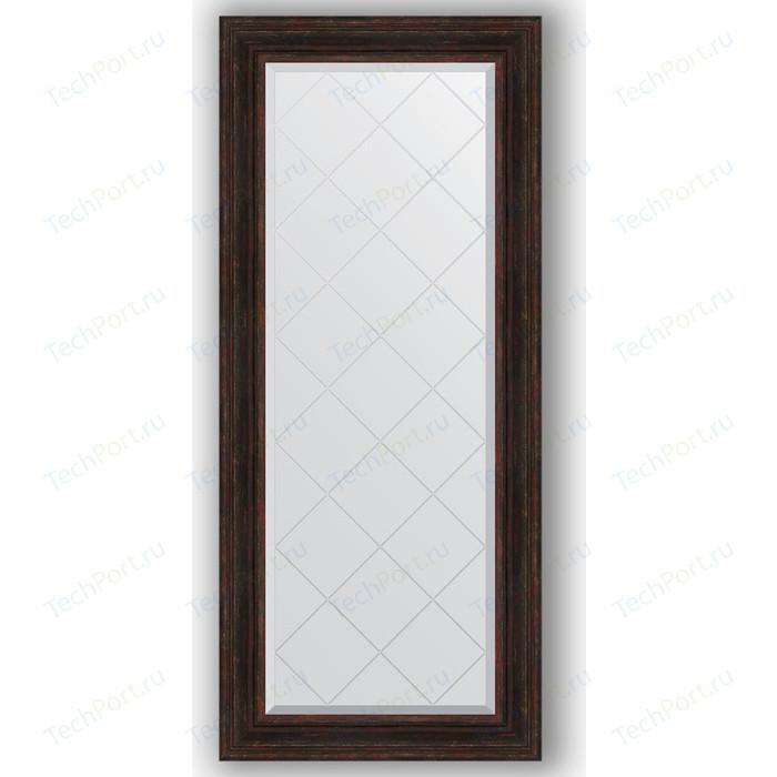 Зеркало с гравировкой поворотное Evoform Exclusive-G 69x158 см, в багетной раме - темный прованс 99 мм (BY 4162)
