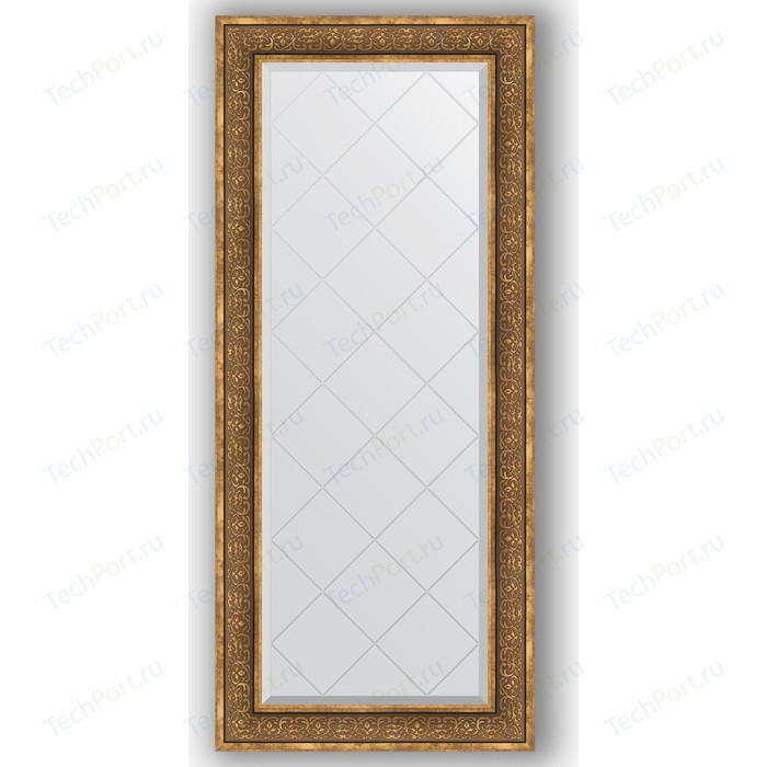Зеркало с гравировкой поворотное Evoform Exclusive-G 69x159 см, в багетной раме - вензель бронзовый 101 мм (BY 4163)