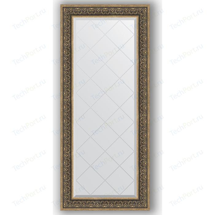 Зеркало с гравировкой поворотное Evoform Exclusive-G 69x159 см, в багетной раме - вензель серебряный 101 мм (BY 4164)