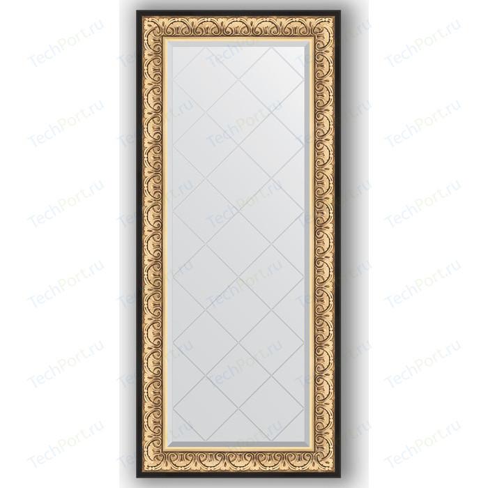 Зеркало с гравировкой поворотное Evoform Exclusive-G 70x160 см, в багетной раме - барокко золото 106 мм (BY 4165)