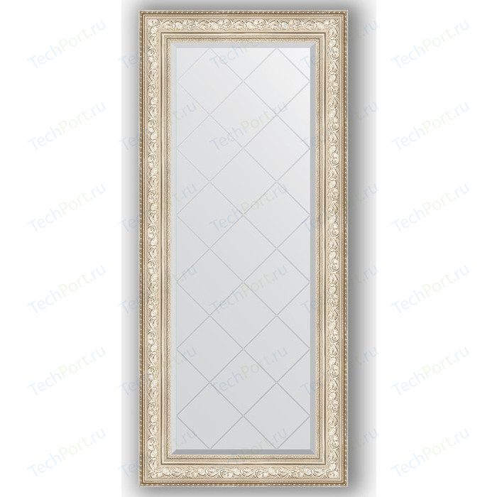 Зеркало с гравировкой поворотное Evoform Exclusive-G 70x160 см, в багетной раме - виньетка серебро 109 мм (BY 4168) зеркало с фацетом в багетной раме поворотное evoform exclusive 80x110 см виньетка серебро 109 мм by 3478