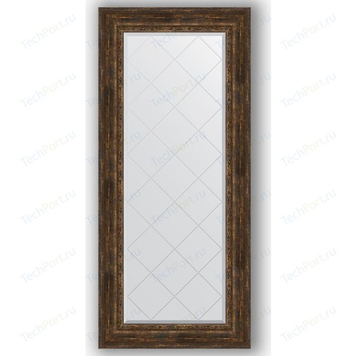 Зеркало с гравировкой поворотное Evoform Exclusive-G 72x162 см, в багетной раме - состаренное дерево с орнаментом 120 мм (BY 4172) зеркало напольное 87х207 см состаренное дерево с орнаментом evoform exclusive floor by 6140