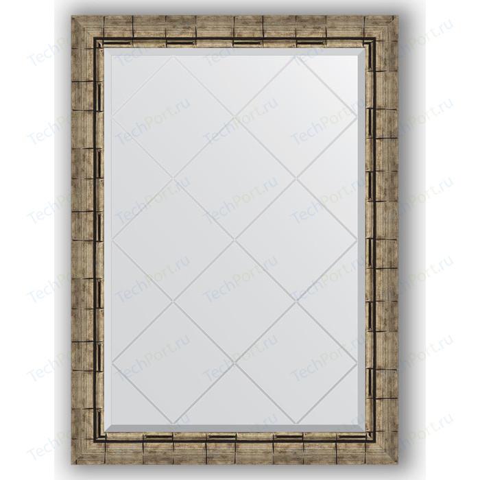 Фото - Зеркало с гравировкой поворотное Evoform Exclusive-G 73x101 см, в багетной раме - серебряный бамбук 73 мм (BY 4179) зеркало с гравировкой поворотное evoform exclusive g 53x71 см в багетной раме серебряный бамбук 73 мм by 4007