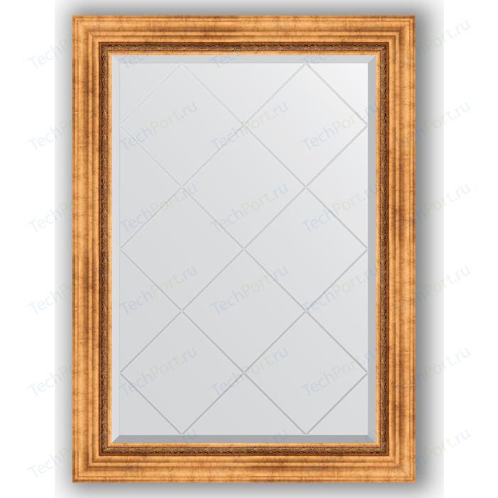 Зеркало с гравировкой поворотное Evoform Exclusive-G 76x104 см, в багетной раме - римское золото 88 мм (BY 4189)