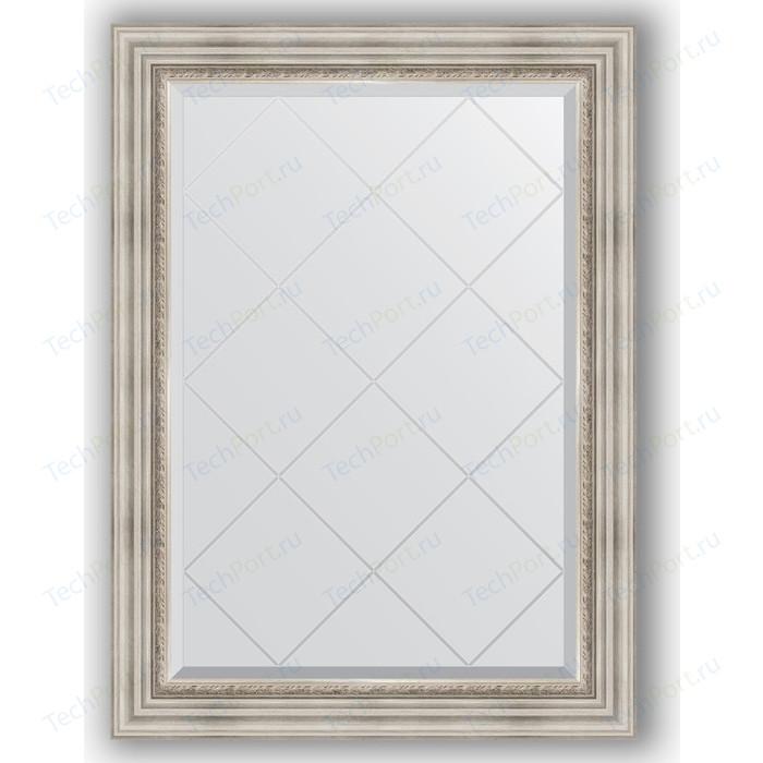 Зеркало с гравировкой поворотное Evoform Exclusive-G 76x104 см, в багетной раме - римское серебро 88 мм (BY 4190) зеркало с гравировкой evoform exclusive g 86x86 см в багетной раме римское серебро 88 мм by 4319