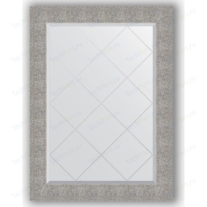 Зеркало с гравировкой поворотное Evoform Exclusive-G 76x104 см, в багетной раме - чеканка серебряная 90 мм (BY 4195)