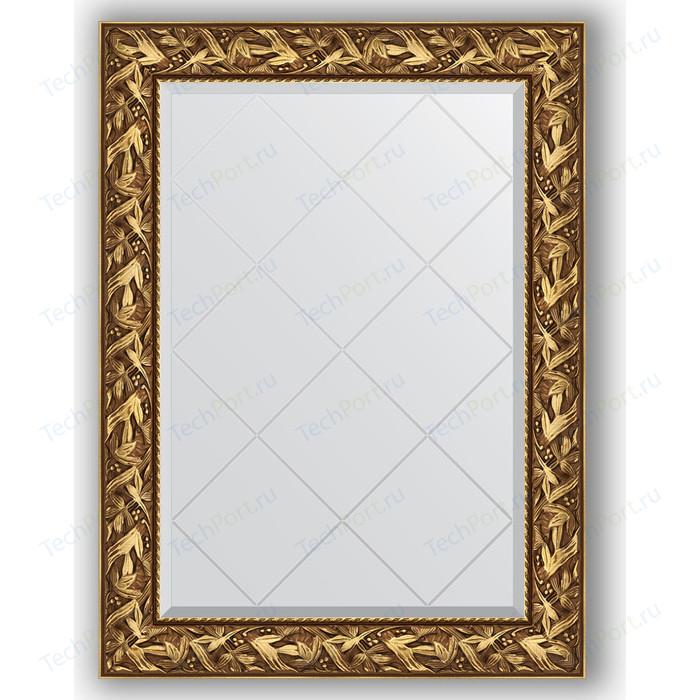 Зеркало с гравировкой поворотное Evoform Exclusive-G 79x106 см, в багетной раме - византия золото 99 мм (BY 4199)