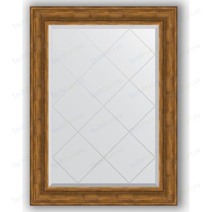 Зеркало с гравировкой поворотное Evoform Exclusive-G 79x106 см, в багетной раме - травленая бронза 99 мм (BY 4204)