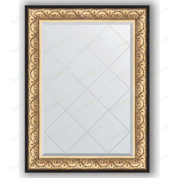 Зеркало с гравировкой поворотное Evoform Exclusive-G 80x107 см, в багетной раме - барокко золото 106 мм (BY 4208)