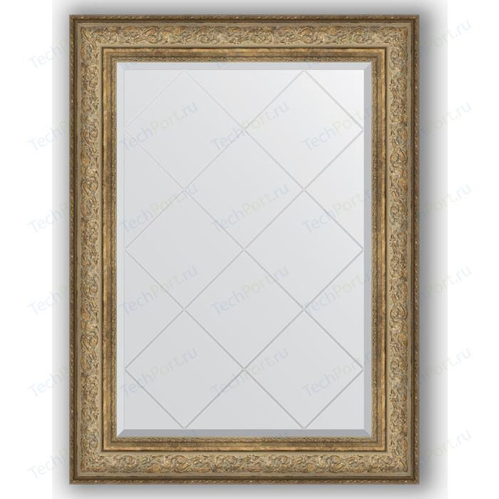 Зеркало с гравировкой поворотное Evoform Exclusive-G 80x108 см, в багетной раме - виньетка античная бронза 109 мм (BY 4210)