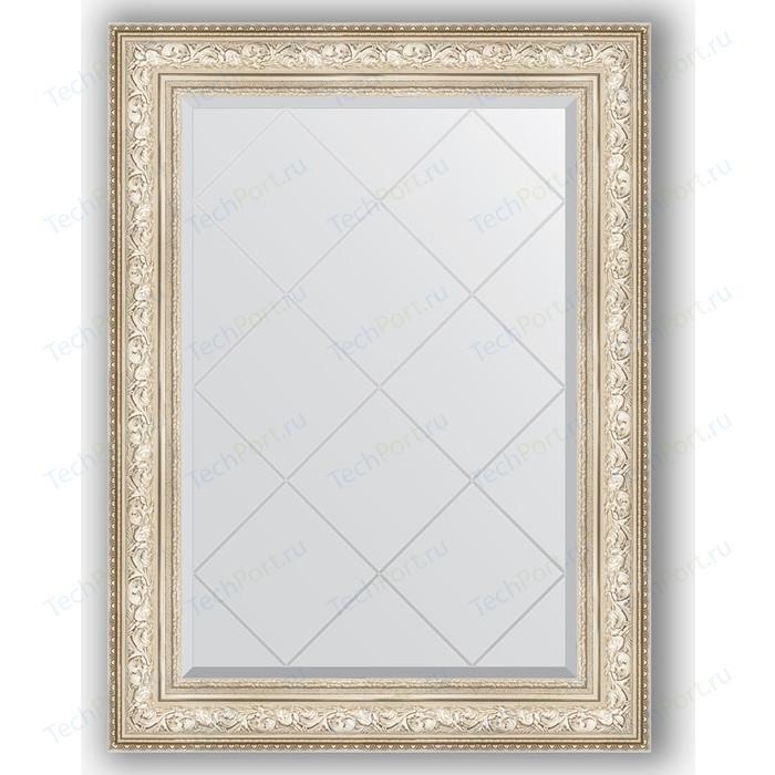 Зеркало с гравировкой поворотное Evoform Exclusive-G 80x108 см, в багетной раме - виньетка серебро 109 мм (BY 4211) зеркало с фацетом в багетной раме поворотное evoform exclusive 80x110 см виньетка серебро 109 мм by 3478