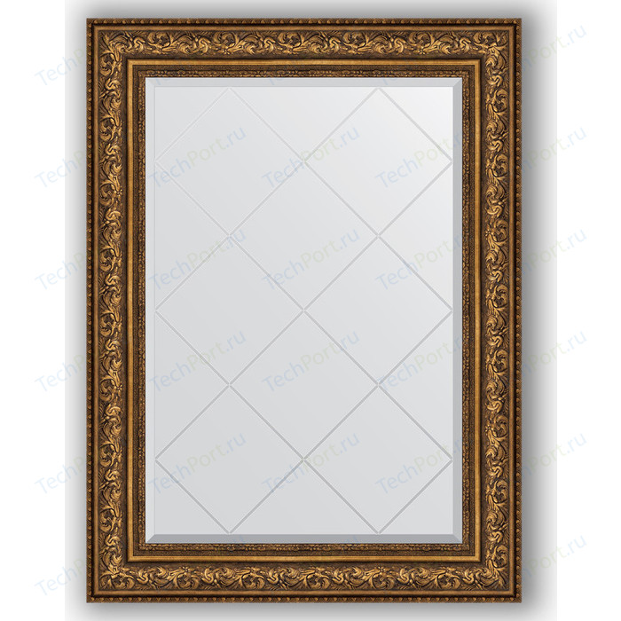 Зеркало с гравировкой поворотное Evoform Exclusive-G 80x108 см, в багетной раме - виньетка состаренная бронза 109 мм (BY 4212) зеркало с фацетом в багетной раме evoform exclusive 60x80 см виньетка состаренная бронза 109 мм by 3401