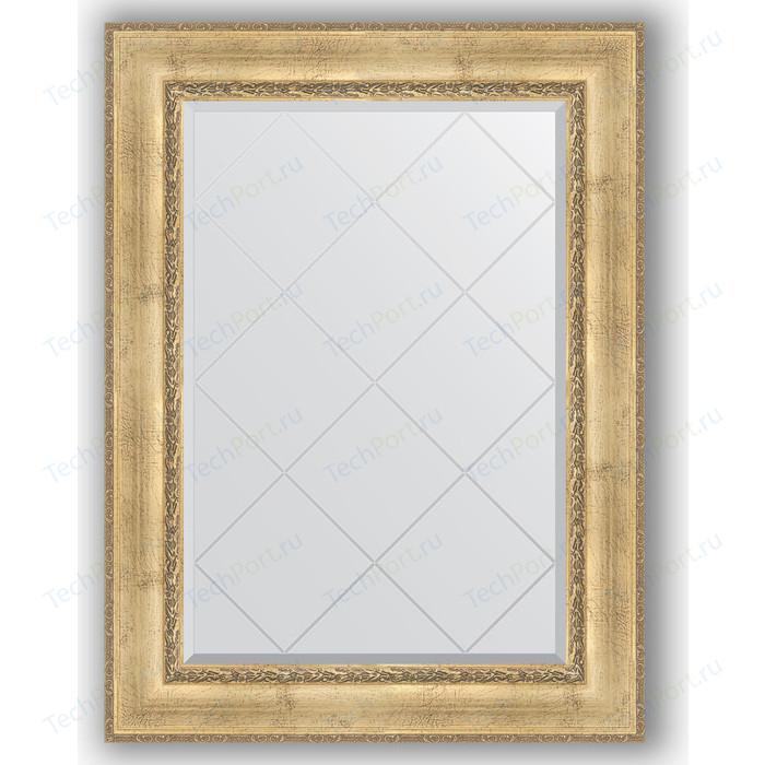 Зеркало с гравировкой поворотное Evoform Exclusive-G 82x110 см, в багетной раме - состаренное серебро орнаментом 120 мм (BY 4213)