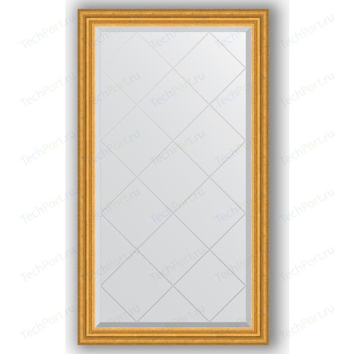 Зеркало с гравировкой поворотное Evoform Exclusive-G 72x127 см, в багетной раме - состаренное золото 67 мм (BY 4216)