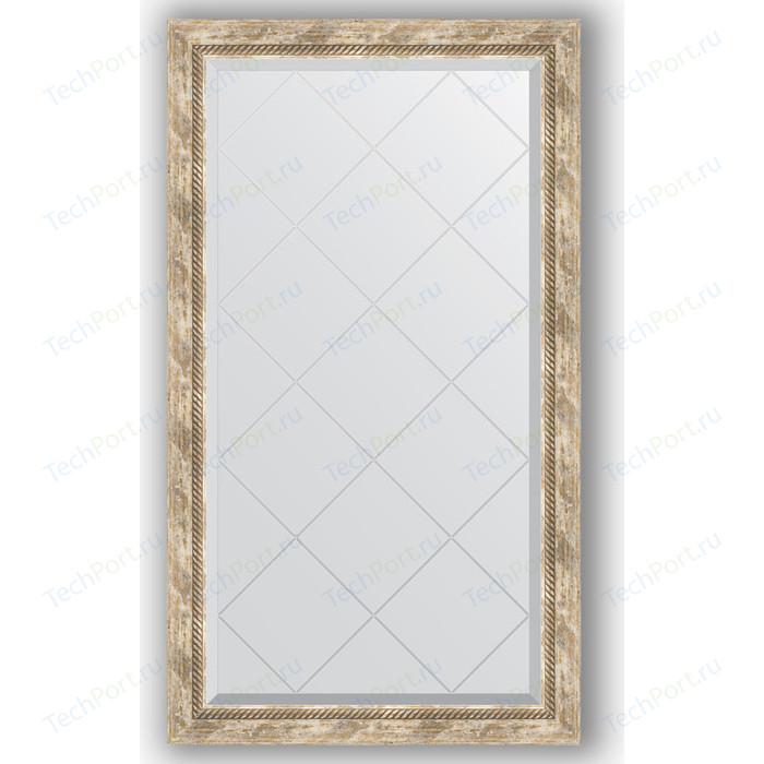 Зеркало с гравировкой поворотное Evoform Exclusive-G 73x128 см, в багетной раме - прованс плетением 70 мм (BY 4220)