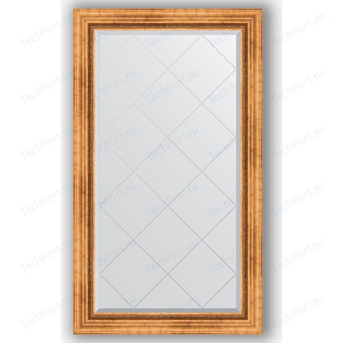 Зеркало с гравировкой поворотное Evoform Exclusive-G 76x131 см, в багетной раме - римское золото 88 мм (BY 4232) зеркало напольное с гравировкой evoform exclusive g floor 81x201 см в багетной раме римское золото 88 мм by 6317