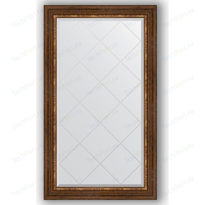 Зеркало с гравировкой поворотное Evoform Exclusive-G 76x131 см, в багетной раме - римская бронза 88 мм (BY 4234)