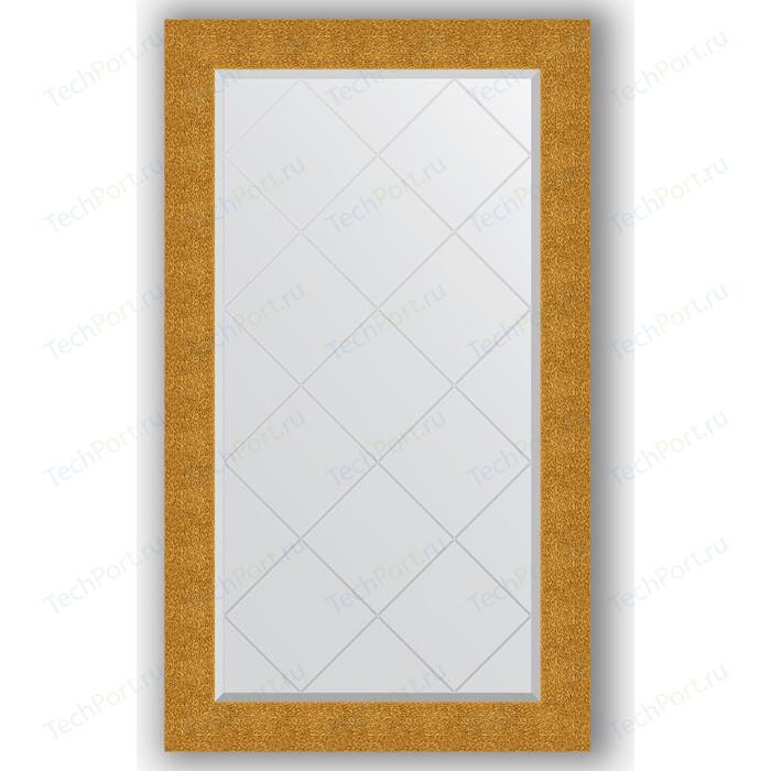 Зеркало с гравировкой поворотное Evoform Exclusive-G 76x131 см, в багетной раме - чеканка золотая 90 мм (BY 4237)