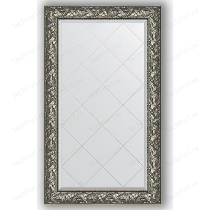 Зеркало с гравировкой поворотное Evoform Exclusive-G 79x133 см, в багетной раме - византия серебро 99 мм (BY 4243)