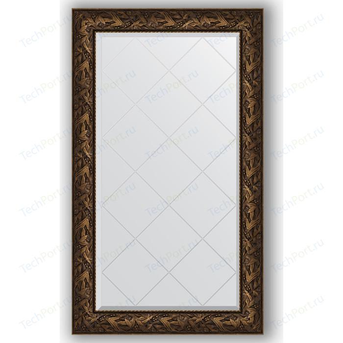 Зеркало с гравировкой поворотное Evoform Exclusive-G 79x133 см, в багетной раме - византия бронза 99 мм (BY 4244)