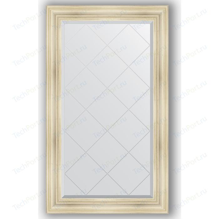 Фото - Зеркало с гравировкой поворотное Evoform Exclusive-G 79x134 см, в багетной раме - травленое серебро 99 мм (BY 4246) зеркало в багетной раме поворотное evoform definite 82x102 см травленое серебро 99 мм by 3284