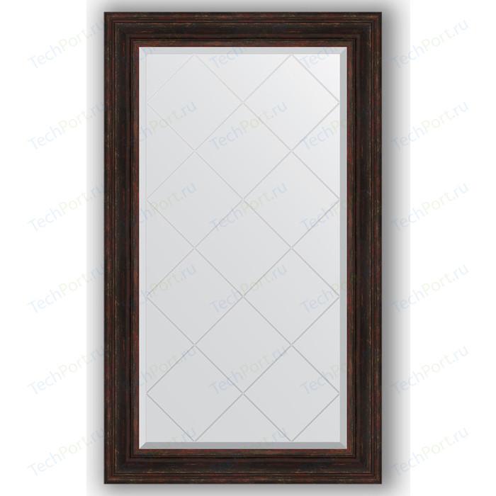 Зеркало с гравировкой поворотное Evoform Exclusive-G 79x134 см, в багетной раме - темный прованс 99 мм (BY 4248) зеркало с гравировкой поворотное evoform exclusive g 59x76 см в багетной раме темный прованс 99 мм by 4033