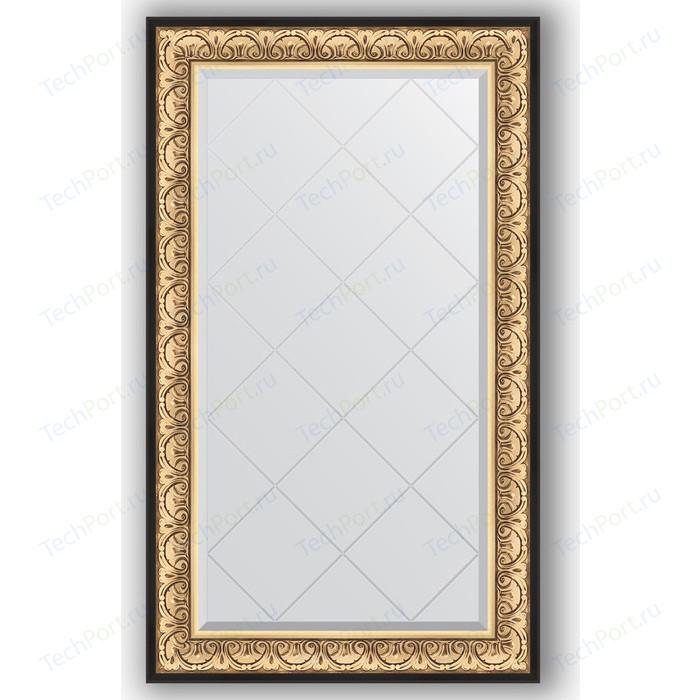 Зеркало с гравировкой поворотное Evoform Exclusive-G 80x135 см, в багетной раме - барокко золото 106 мм (BY 4251)