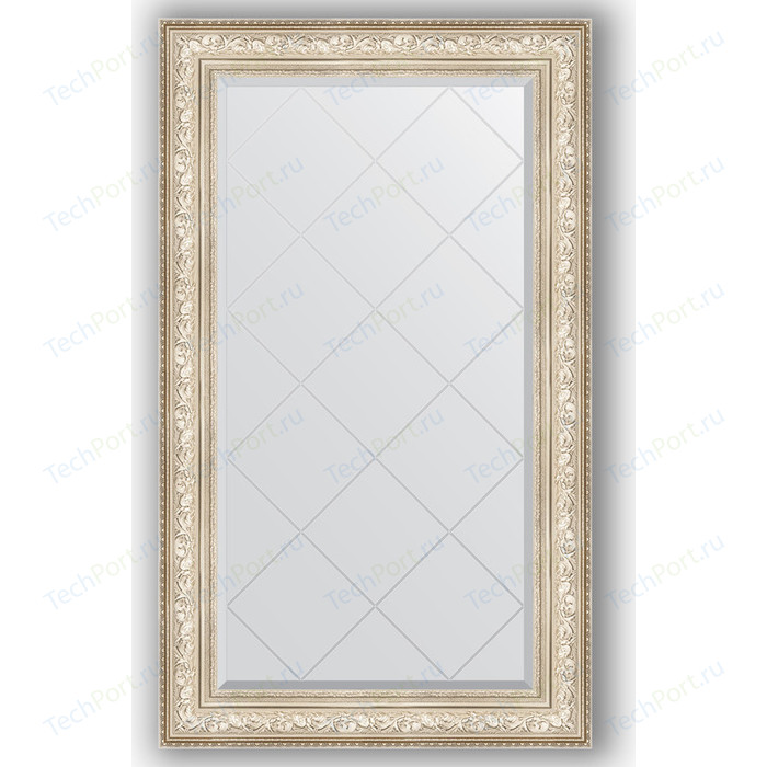 Зеркало с гравировкой поворотное Evoform Exclusive-G 80x135 см, в багетной раме - виньетка серебро 109 мм (BY 4254)