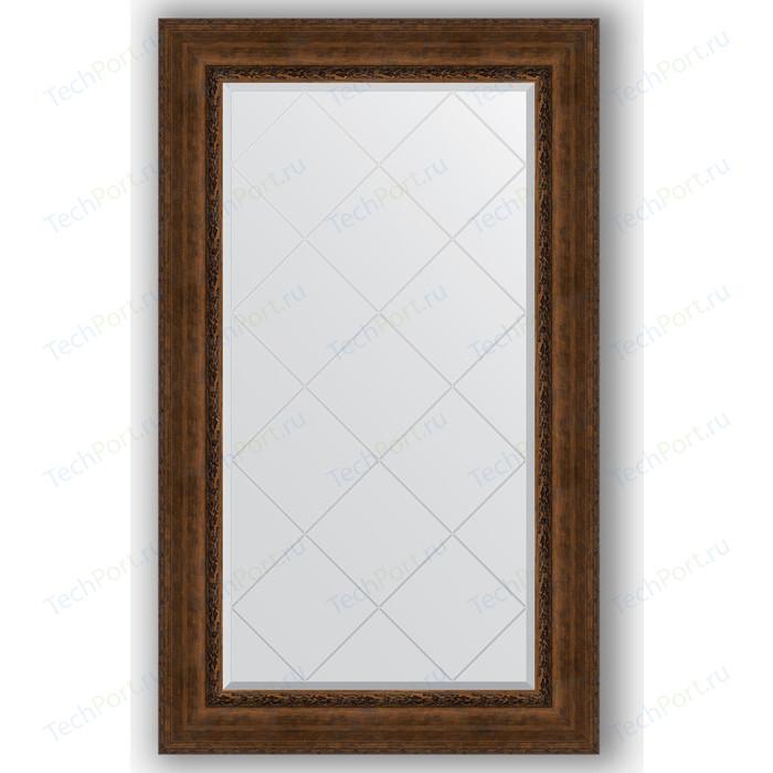 Зеркало с гравировкой поворотное Evoform Exclusive-G 82x137 см, в багетной раме - состаренная бронза орнаментом 120 мм (BY 4257)