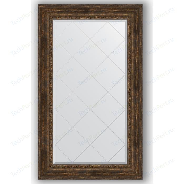 Зеркало с гравировкой поворотное Evoform Exclusive-G 82x137 см, в багетной раме - состаренное дерево с орнаментом 120 мм (BY 4258) зеркало напольное 87х207 см состаренное дерево с орнаментом evoform exclusive floor by 6140