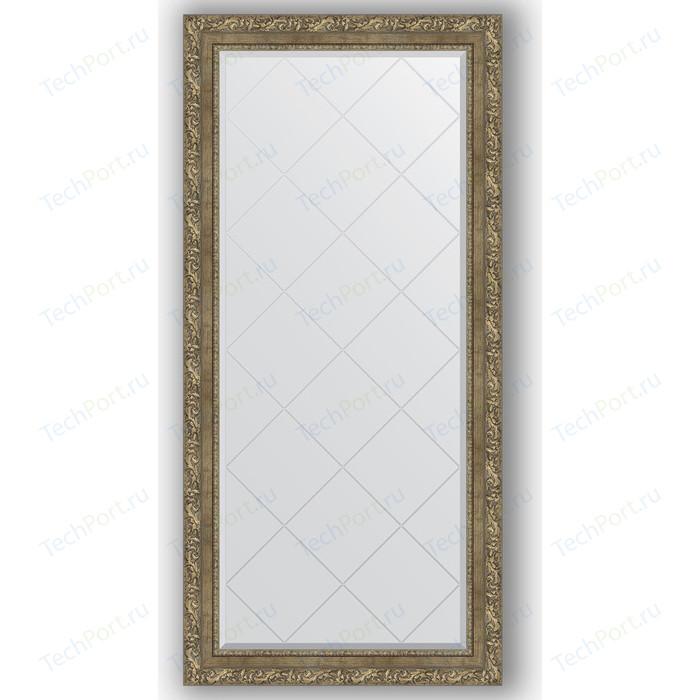 Зеркало с гравировкой поворотное Evoform Exclusive-G 75x157 см, в багетной раме - виньетка античная латунь 85 мм (BY 4274)