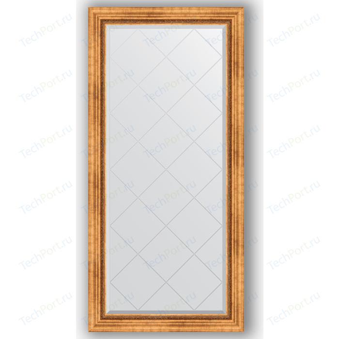 Зеркало с гравировкой поворотное Evoform Exclusive-G 76x158 см, в багетной раме - римское золото 88 мм (BY 4275) зеркало напольное с гравировкой evoform exclusive g floor 81x201 см в багетной раме римское золото 88 мм by 6317