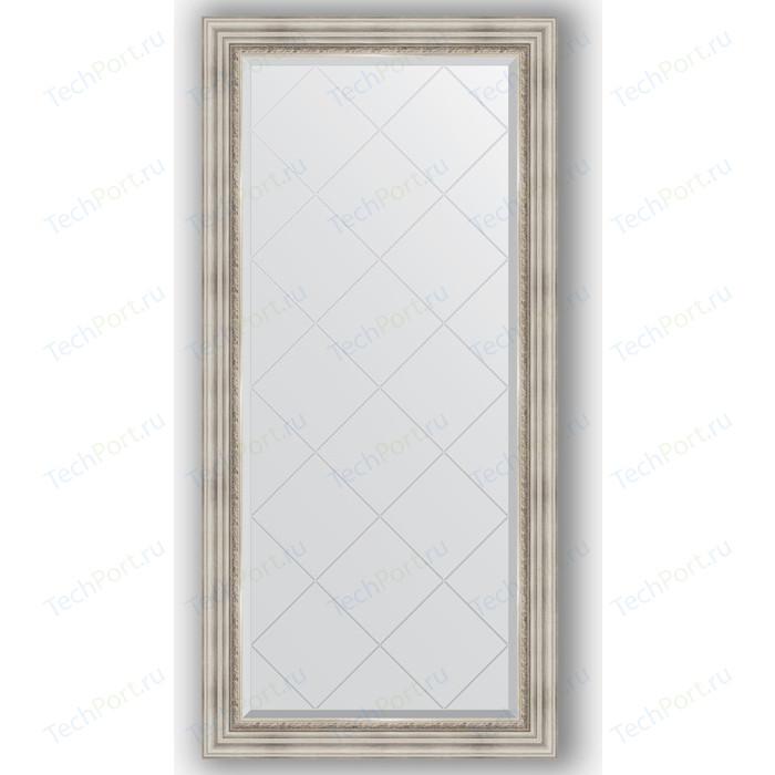 Зеркало с гравировкой поворотное Evoform Exclusive-G 76x158 см, в багетной раме - римское серебро 88 мм (BY 4276) зеркало с гравировкой evoform exclusive g 86x86 см в багетной раме римское серебро 88 мм by 4319