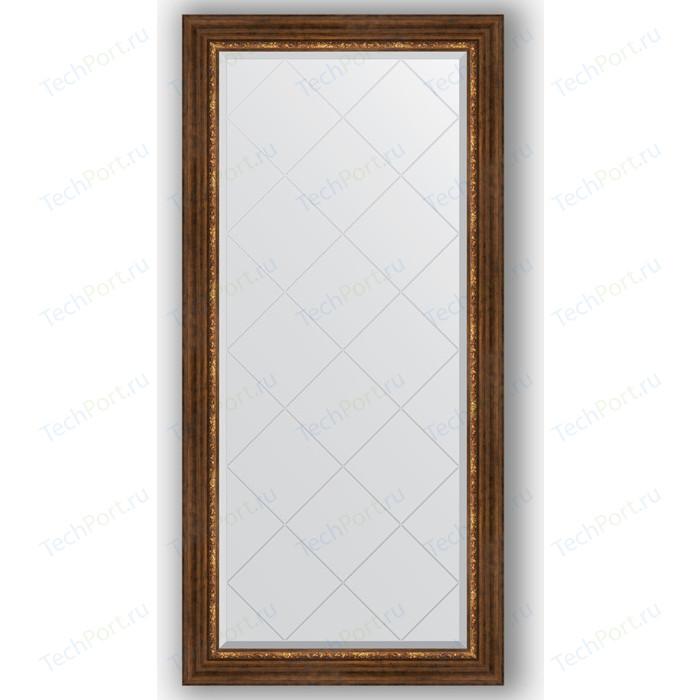 Зеркало с гравировкой поворотное Evoform Exclusive-G 76x158 см, в багетной раме - римская бронза 88 мм (BY 4277)